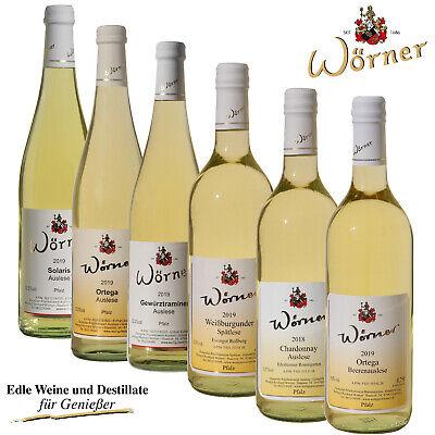 WEINGUT WÖRNER: Weinprobe 6 Fl. Prädikatswein Weißwein lieblich süß Pfalz