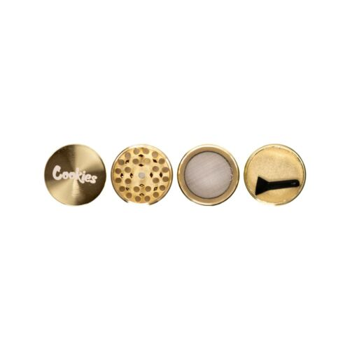 """Gold Cookies Grinder 1.57"""" (40mm) 4 layers with plastic scooper"""