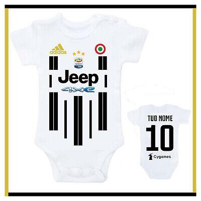 Body Neonato Juventus Personalizzato Con Nome Juve Divertente Bambino Bimbo