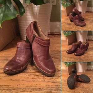 Brown ankle booties, size 9.5
