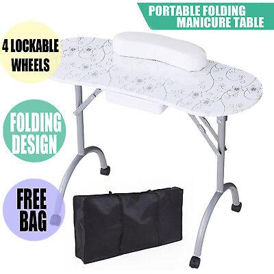 Foldable Portable Mobile Manicure Nail Art Beauty Salon Table Desk Free Bag for sale  Dayton