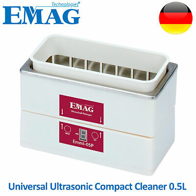 Emag Ultrasonic Cleaner Solution Bath Clean Parts Instrument Jewelry Dental 0.5l