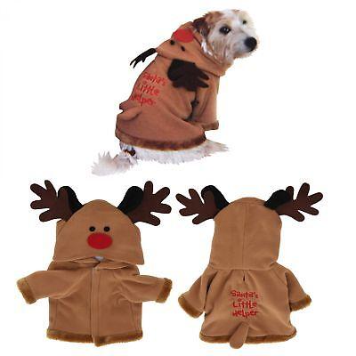 Rentier Hundekostüm Hundemantel 2 Größen Weihnachten Katze Hund Mops (Mops Katze Kostüm)