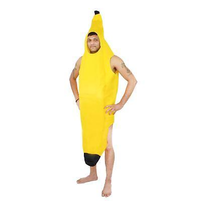 Banane Kostüm Outfit Unisex Männer Frauen Lustig Stag Neuheit (Bananen Kostüm Frauen)