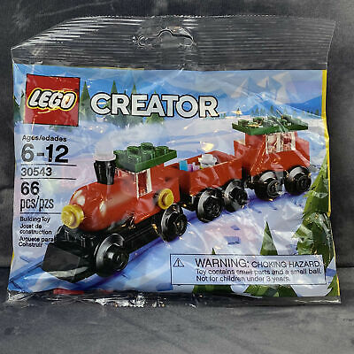 Lego Creator Christmas Holiday Train 30543 66pcs New Sealed Polybag