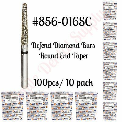 Diamond Burs Round End Taper 856-016sc Super Coarse Black 100pcs10pk Defend