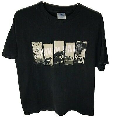 Linkin Park 2000s Tennessee River Black Graphic Band T-Shirt, Size Large
