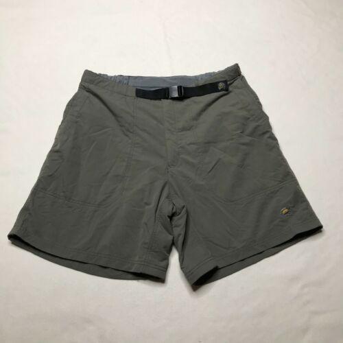 Mountain Hardwear Hiking Shorts Mens Large Gray Belted Nylon Embroidered Logo