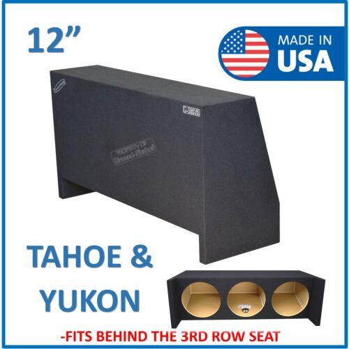"Chevy Tahoe & Gmc Yukon 1995-2019 12"" Triple Sealed sub box Subwoofer Enclosure"