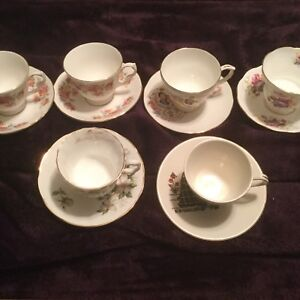 Cups and saucers $5.00 each