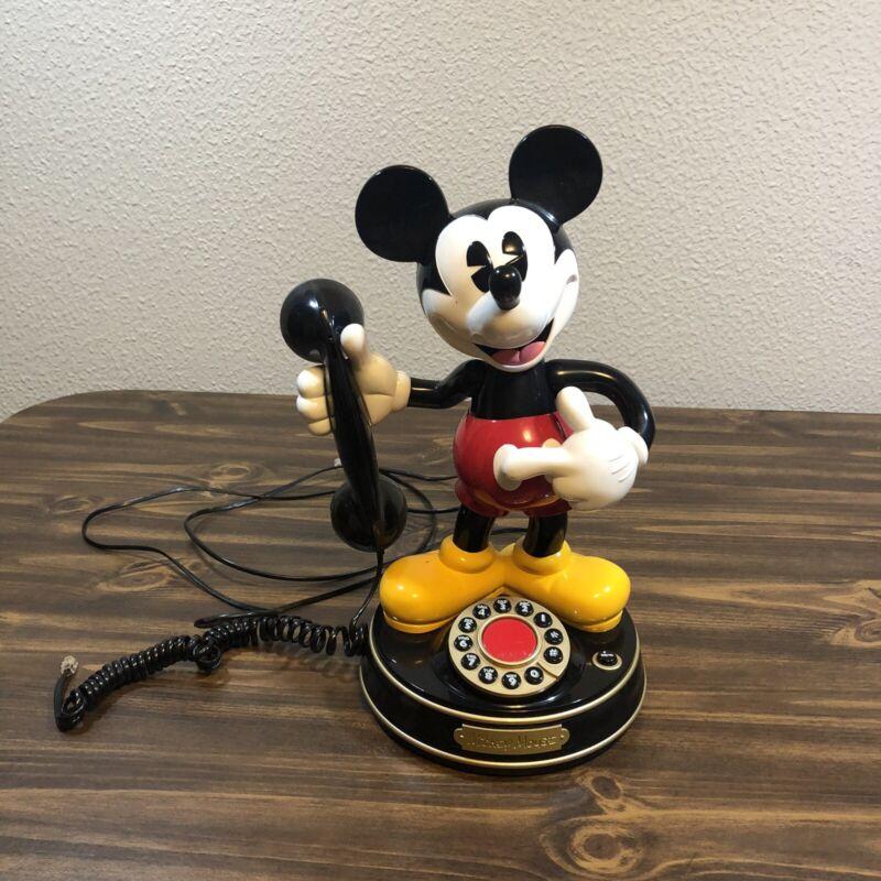 Vintage Mickey Mouse Animated Talking Telephone Disney Phone 1997 *Please Read*