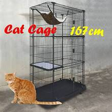 Warehouse direct 4 level Alloy Cat Cage Cat House Riverwood Canterbury Area Preview