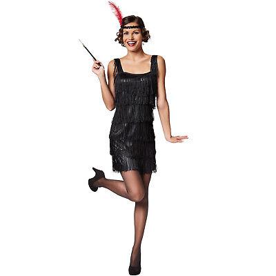 Halloween Kostume (Frauenkostüm Charleston 1920 20er Flapper Kleid Fransenkleid Carneval Halloween)