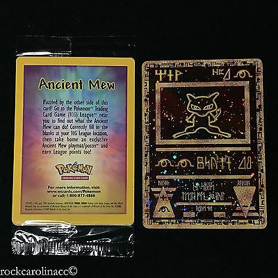 ANCIENT MEW Double Holo RARE (MINT SEALED) PROMO Pokemon Cards