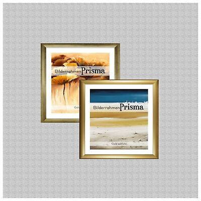 Bilderrahmen PRISMA Gold Quadratisch Maßanfertigung mit oder ohne Acrylglas