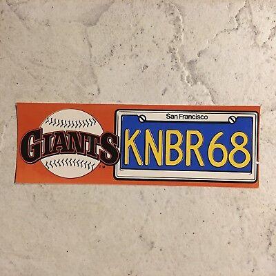 1987 San Francisco Giants KNBR68 Bumper Sticker 3X9 MLB Baseball Taco Bell ](Giant Taco)