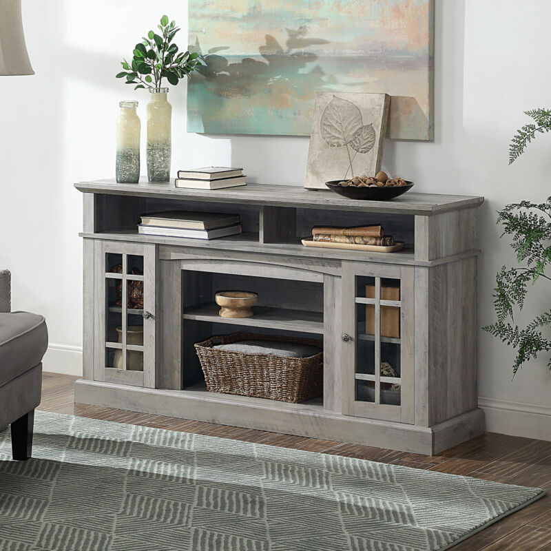 """Home Astorga Television Stand Console For TVs up to 65"""" Wide, Grey Wash"""