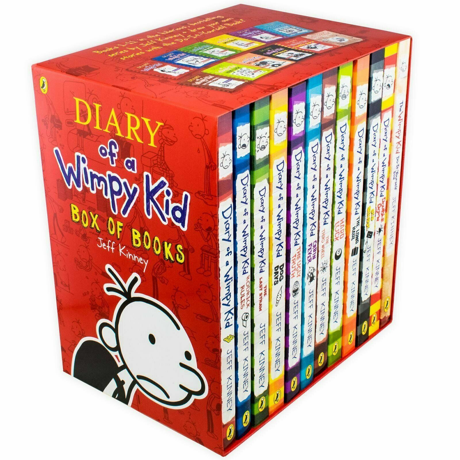 Diary Of A Wimpy Kid Collection 12 Books Set Pack By Jeff Kinney The Long Haul Ebay