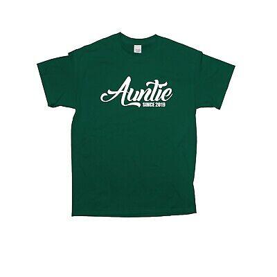 Auntie Since 2019 T-Shirt Best Auntie New Auntie Gift Baby Shower Proud