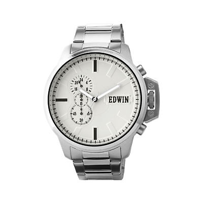 007 Stainless Steel Case - Edwin ENERGY Men's Chronograph Watch, Stainless Steel Case and Band