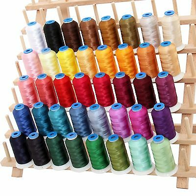 RAYON MACHINE EMBROIDERY THREAD SET A - BIG 1000M CONES - 40 COLORS - 40WT 40 Wt Rayon Thread