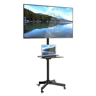 "Mobile TV Cart Floor Stand Mount Home Display Trolley for 23""-55"" Plasma/LCD/LED"