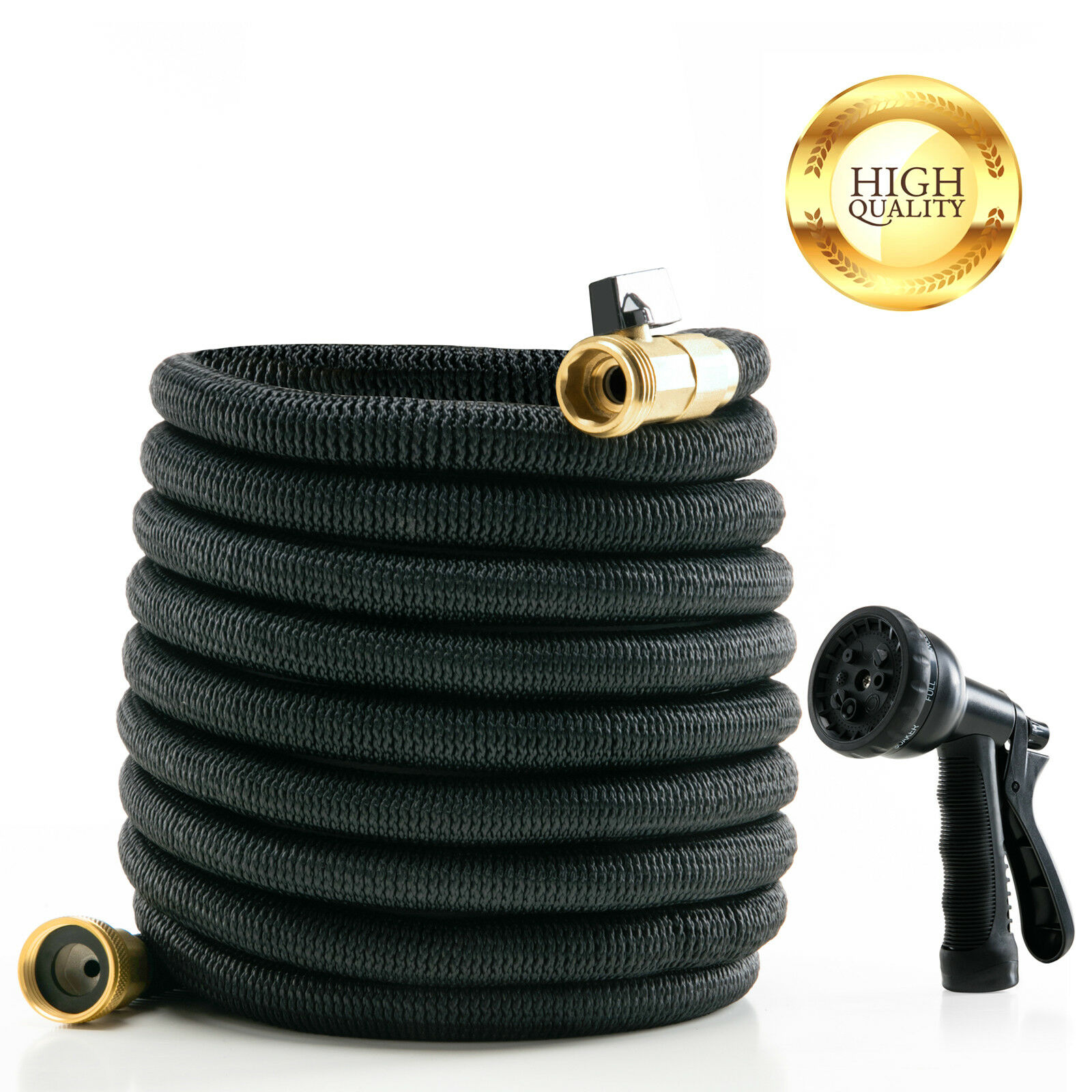 Deluxe Expandable Flexible Garden Water Hose Spray Nozzle 100 Ft - $0.99