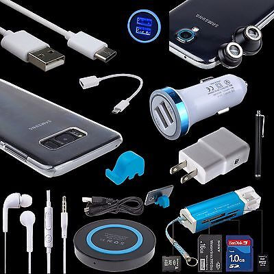 11 Accessory Bundles AC DC QI Charger Cable Lens Case for Samsung Galaxy S8 S9+