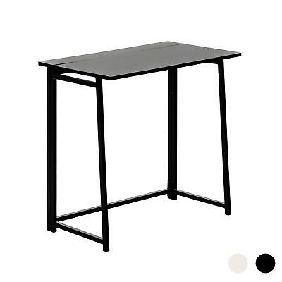 Folding Computer Desk Laptop PC Home Office University Wood Study Table - Black