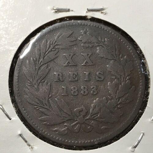1883 PORTUGAL 20 REIS NICE BRONZE COIN