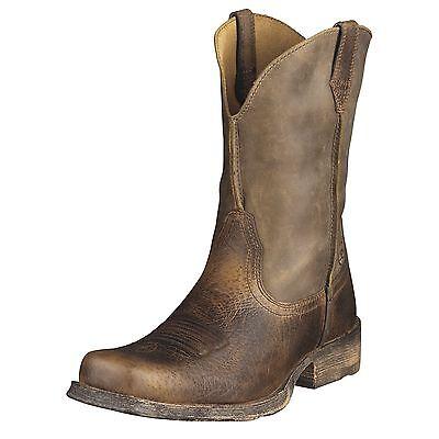 Mens Rambler Brown Bomber - Ariat Rambler Mens Cowboy Boot Earth Brown Bomber 10002317 35829