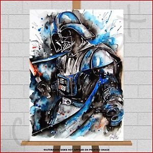 Star Wars Darth Vader Paint Splash Large Framed Box Canvas Print Poster Picture