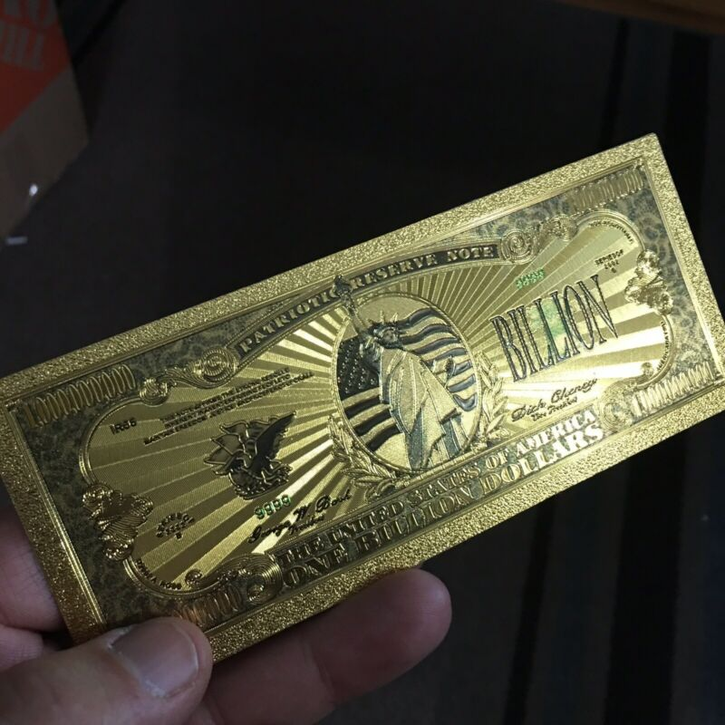 💥amazing💥24K Gold Collectors ONE BILLION DOLLAR Banknote