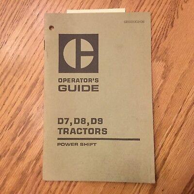 Cat Caterpillar D7 D8 D9 P.s. Operation Manual Tractor Dozer Operator Guide Book