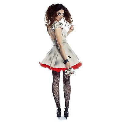 Adult Women's Teen Voodoo Magic Torture Doll Halloween Costume Dress Doll