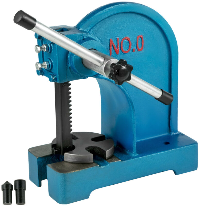 Arbor Press 0.5 Ton Lever Bench Mountable Bearings Cast Iron Manual Desktop