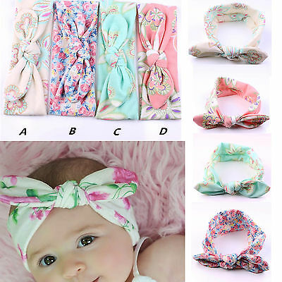 4pcs Kids Girls Baby Headband Toddler Bow Flower Hair Band Accessories Headwear
