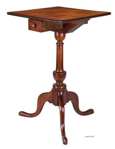 SWC-Cherry Candlestand with Drawer, CT, c.1780