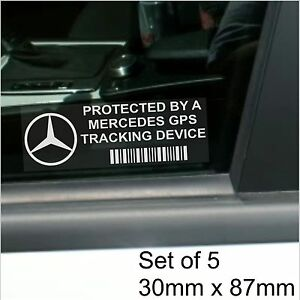 5 x mercedes benz gps tracking device security stickers for Mercedes benz tracking system