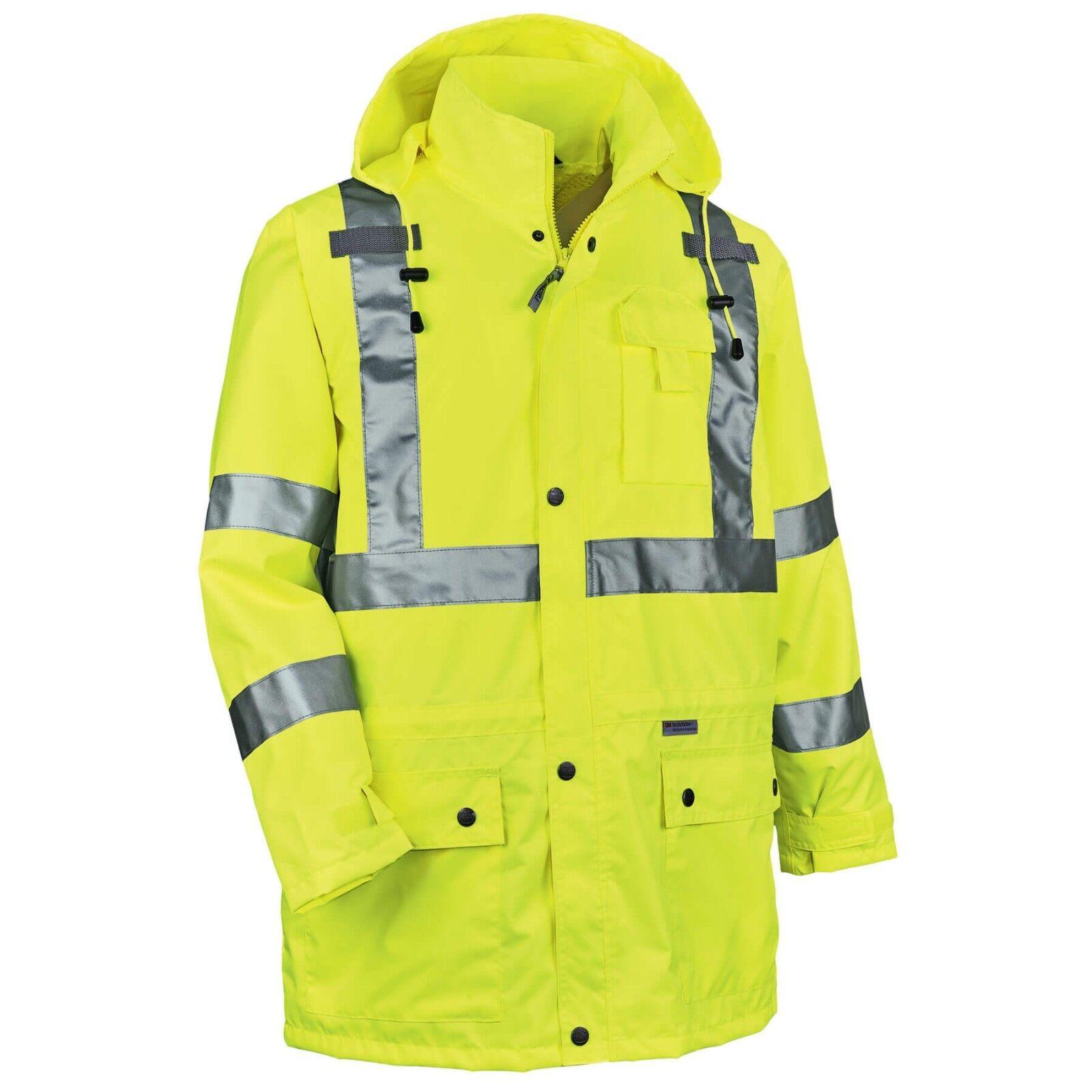 Details about Ergodyne GloWear Class 3 Reflective Safety Rain Jacket 6ba4c9cca41