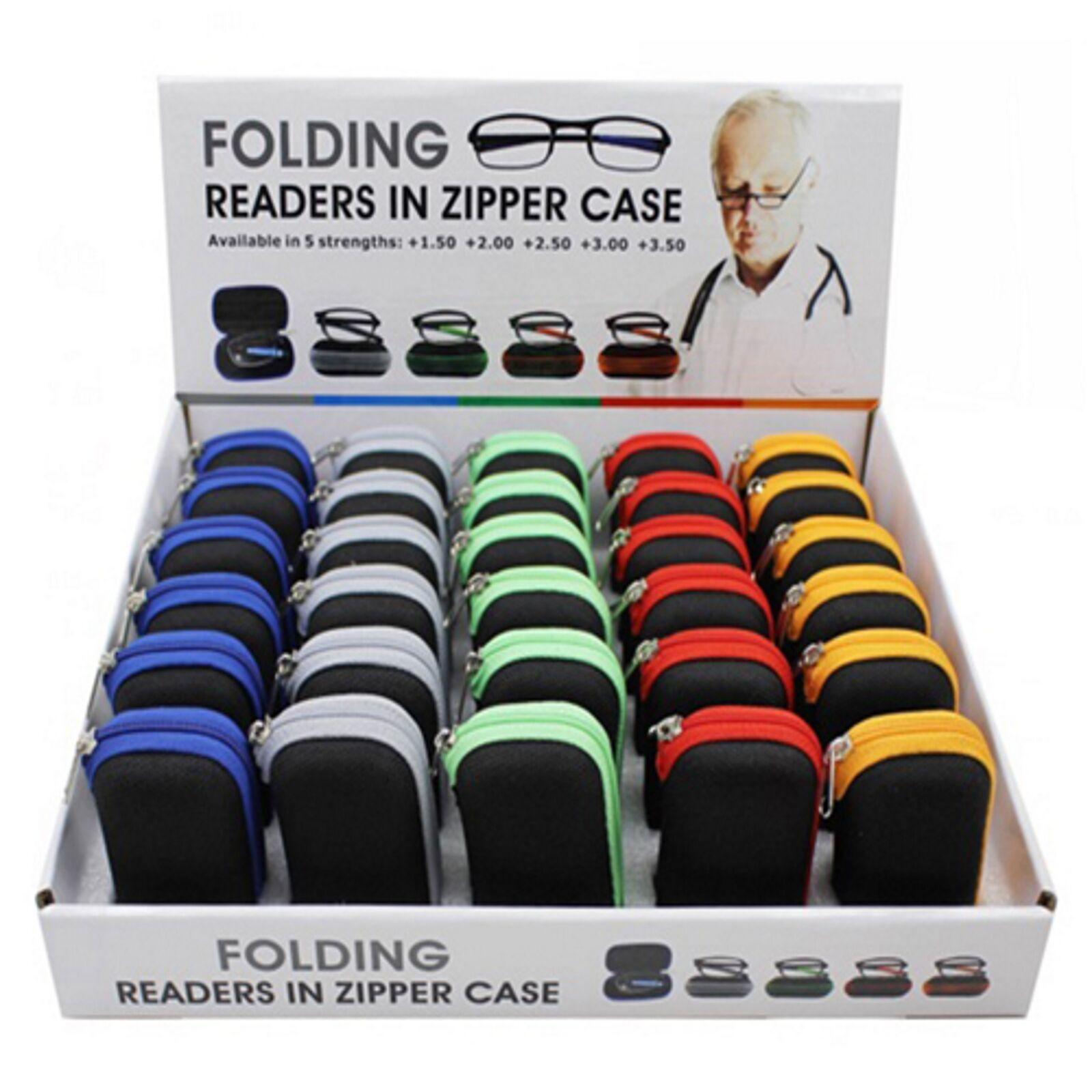 Klappbare Lesebrille 5 Farben für SIE & IHN Sehhilfe Fertigbrille mit Etui