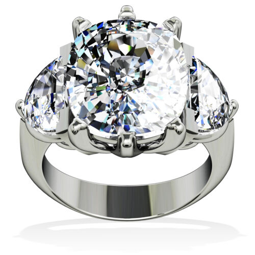 3 Stone Diamond Engagement Ring GIA Certified Platinum 4.00 Carat Cushion Cut