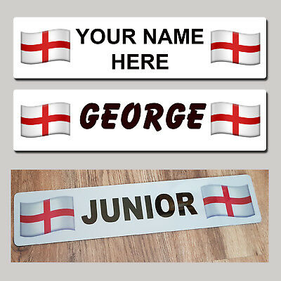 England St George Trucker Tractor Show Name Plate British Sign