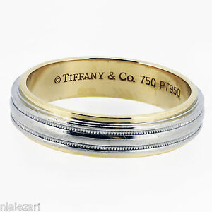 Tiffany mens wedding band ebay for Tiffany mens wedding ring