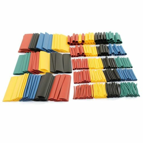 328PCS Polyolefin Heat Shrink Tubing Tube Sleeve Wrap Wire Assortment 8 Size 2:1