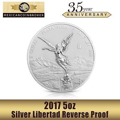 2017 5 oz. Silver Mexican Libertad REVERSE Proof Coin *Treasure Coin of Mexico™*