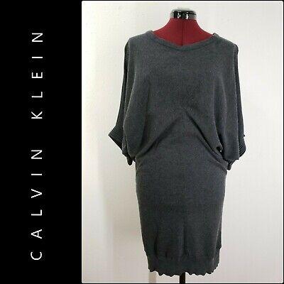 Calvin Klein Woman Career Formal Knit Dress Size Medium M Nwot Gray