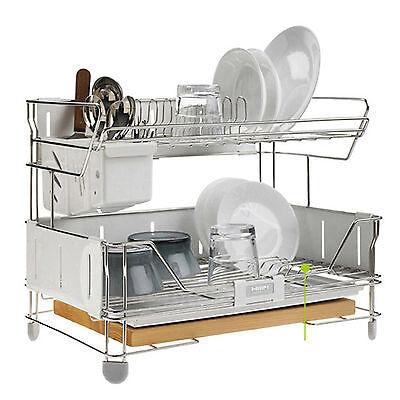 Hanssem Shine Steel Frame Dish Dry Rack Drying Drainer Kitchen Holder Organizer