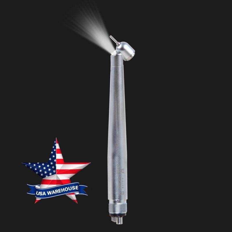Dental 45 Degree LED Handpiece High Speed Push 4Hole NSK Style Yabangbang New