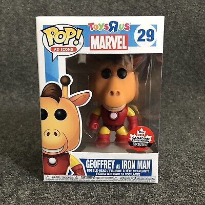 Funko Pop! Geoffrey as Iron Man #029 - Canadian Convention Exclusive *In Hand*